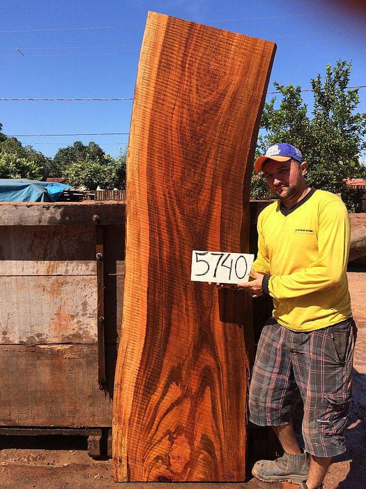 "Jatoba / Brazilian Cherry #5740- 2-3/4"" x 23"" to 25"" x 84"" FREE SHIPPING within the Contiguous US. - Big Wood Slabs"