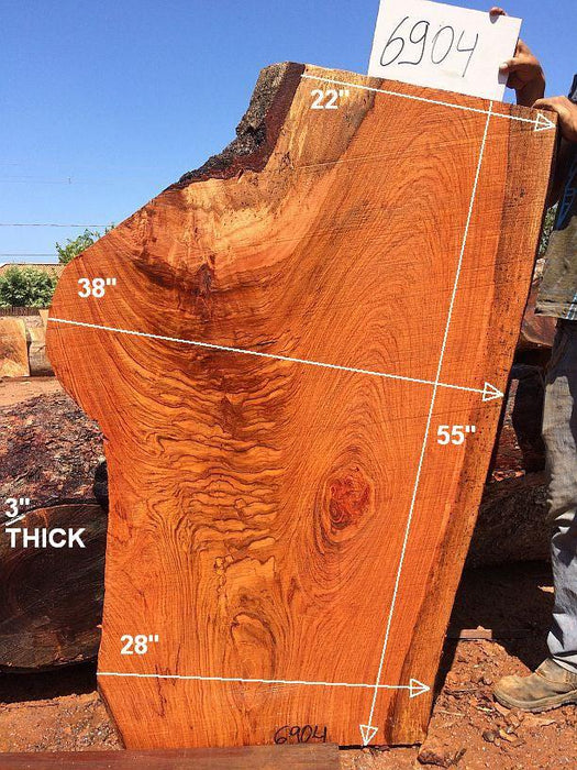 "Jatoba / Brazilian Cherry - 3"" x 22"" to 28"" x 55"" - Big Wood Slabs"