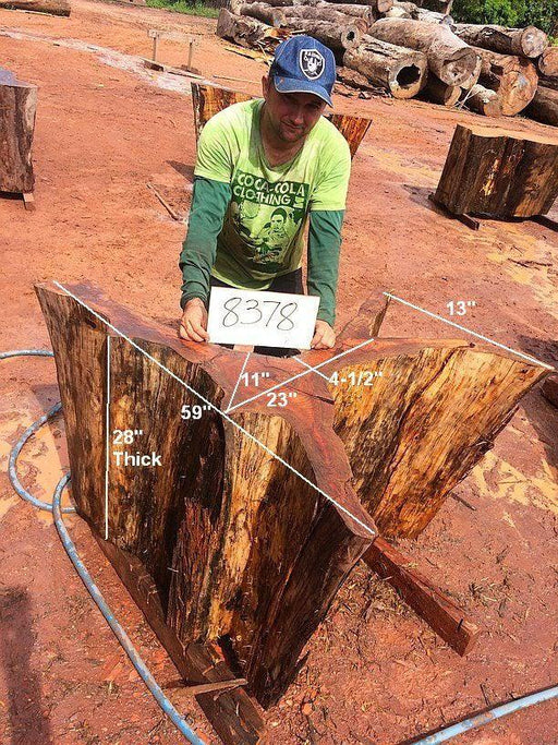 "Fava Timborana #8378- 28"" x 11"" to 13"" x 59"" FREE SHIPPING within the Contiguous US. - Big Wood Slabs"