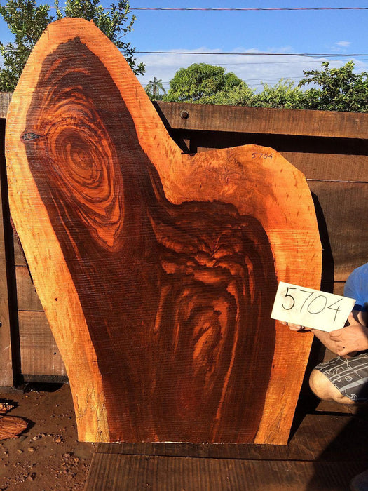 Jatoba / Brazilian Cherry #5704- 2-1/2″ x 29″ - 40″ x 60″ FREE SHIPPING within the Contiguous US. - Big Wood Slabs
