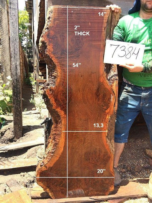"Ipe / Brazilian Walnut - 2"" x 13"" to 20"" x 54"" - Big Wood Slabs"