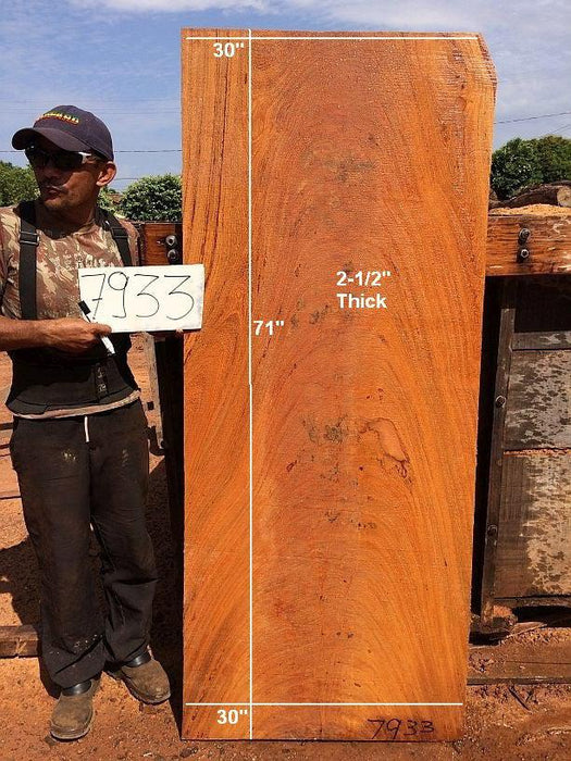 "Angelim Pedra - 2-1/2"" x 30"" x 71"" - Big Wood Slabs"