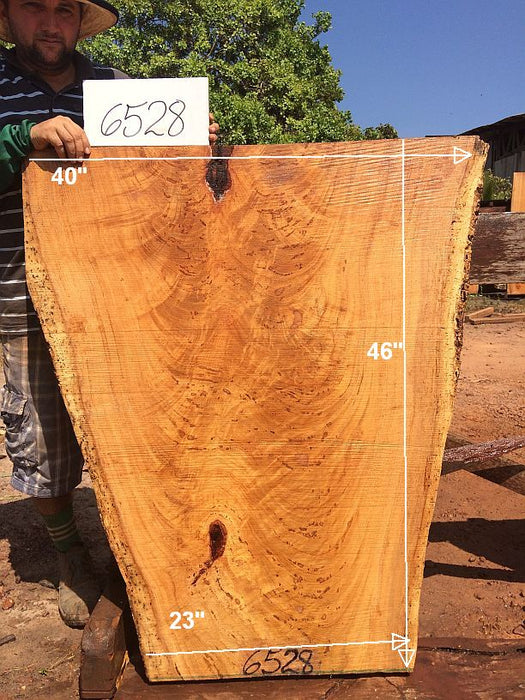 "Angelim Pedra #6528 - 2-1/2"" x 23"" to 40"" x 46"" - Big Wood Slabs"