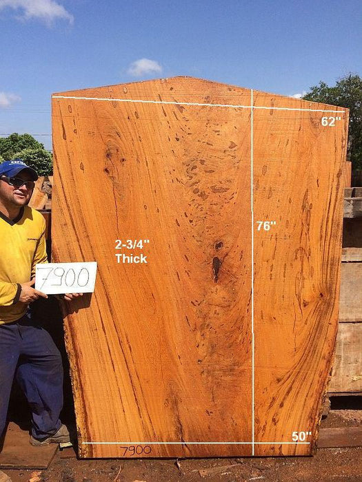 "Angelim Pedra - 2-3/4"" x 50"" to 62"" x 76"" - Big Wood Slabs"