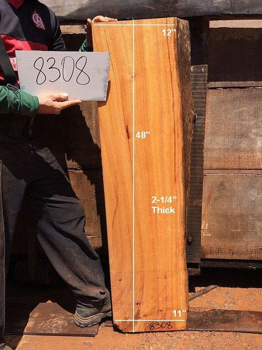 "Curatinga Mahogany / Cedrorana #8308 - 2-1/4"" x 11"" to 12"" x 48"" FREE SHIPPING within the Contiguous US. - Big Wood Slabs"