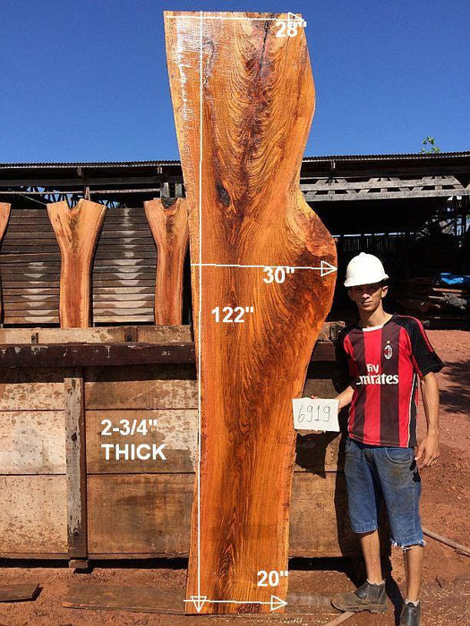 "Jatoba / Brazilian Cherry - 2-3/4"" x 20"" to 28"" x 122"" - Big Wood Slabs"