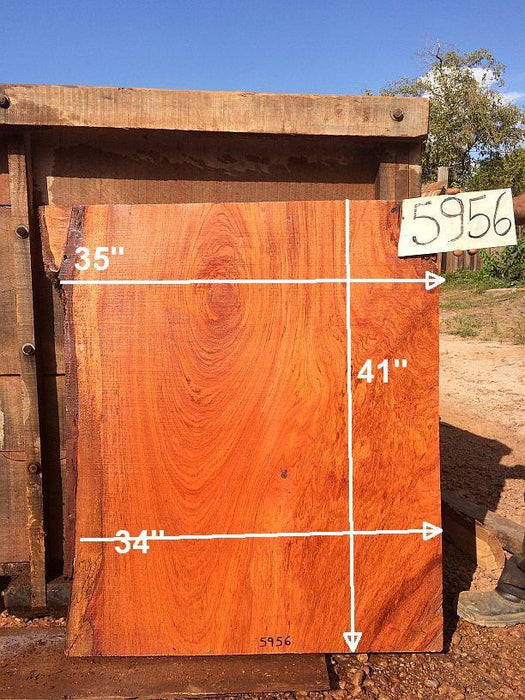 "Jatoba / Brazilian Cherry - 2-1/2"" x 34"" to 35"" x 41"" - Big Wood Slabs"