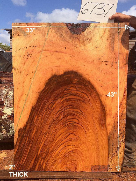 "Jatoba / Brazilian Cherry - 2"" x 33"" x 43"" - Big Wood Slabs"