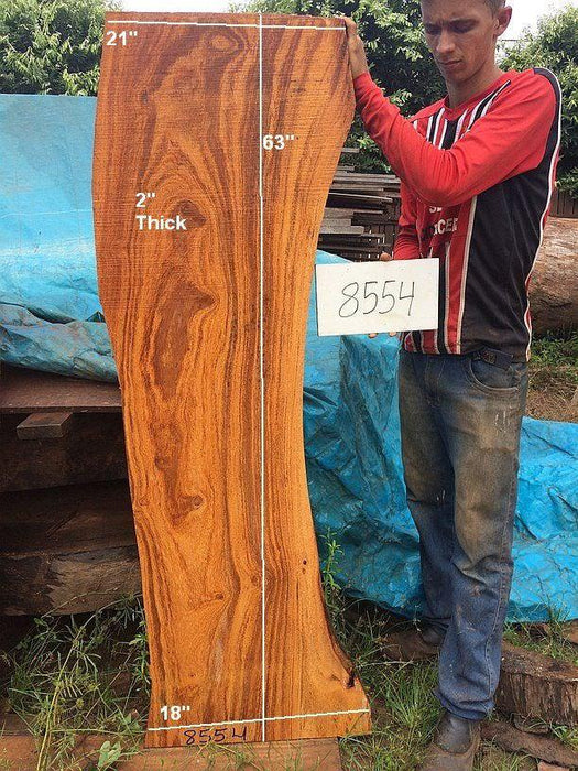 "Angelim Pedra #8554 - 2"" x 18"" to 21"" x 63"" - Big Wood Slabs"