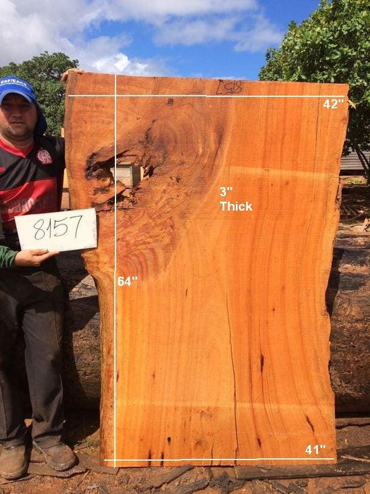 "Curatinga Mahogany / Cedrorana #8157- 3"" x 41"" to 42"" x 64"" FREE SHIPPING within the Contiguous US. - Big Wood Slabs"