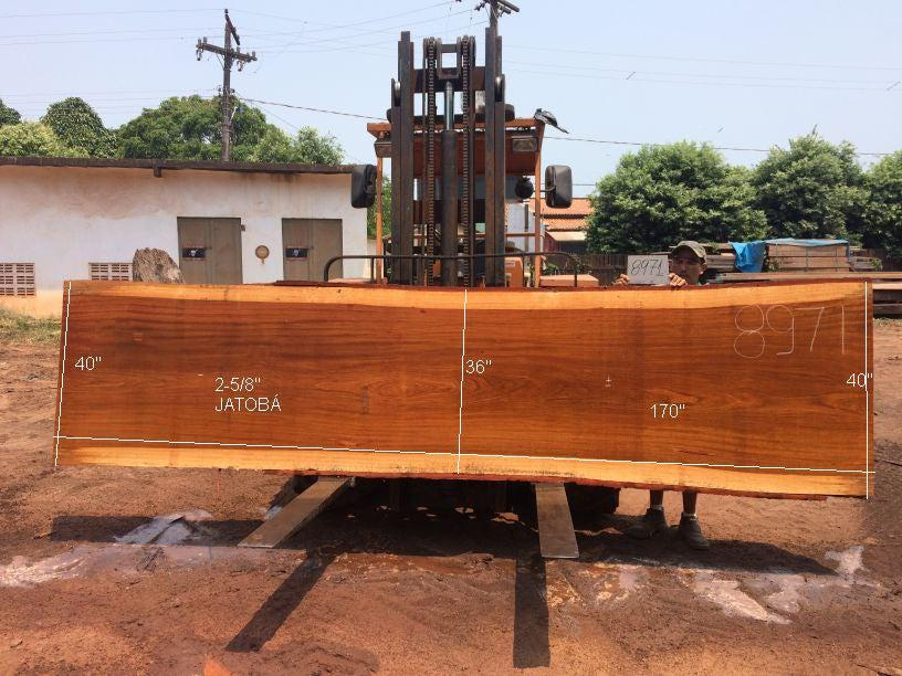 Jatoba / Brazilian Cherry #8971– 2-5/8″ x 36″ to 40″ x 170″ FREE SHIPPING within the Contiguous US. - Big Wood Slabs