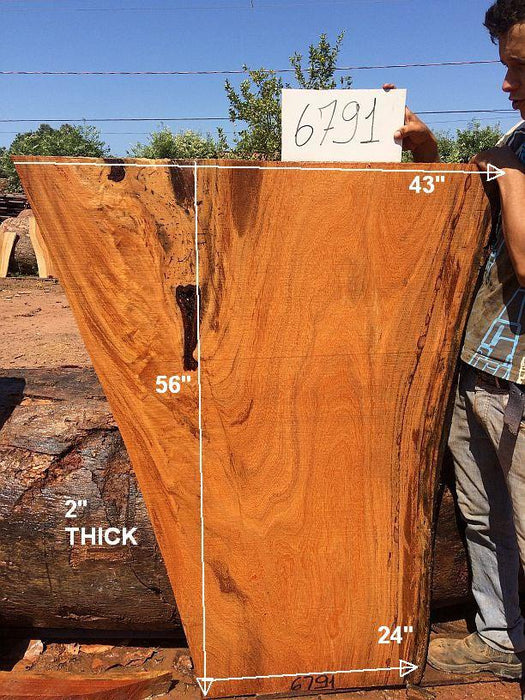"Angelim Pedra #6791 - 2"" x 24"" - 43"" x 56"" - Big Wood Slabs"