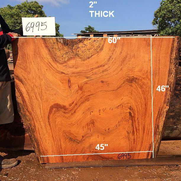 "Angelim Pedra #6995 - 2"" X 45"" to 60"" X 46"" - Big Wood Slabs"