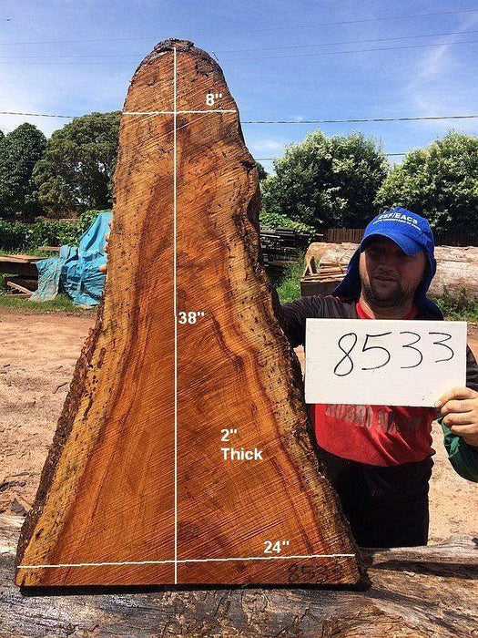 "Angelim Pedra #8533 - 2"" x 24"" x 38"" - Big Wood Slabs"