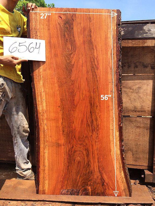 "Jatoba / Brazilian Cherry - 2-1/2"" x 25"" to 27"" x 56"" - Big Wood Slabs"