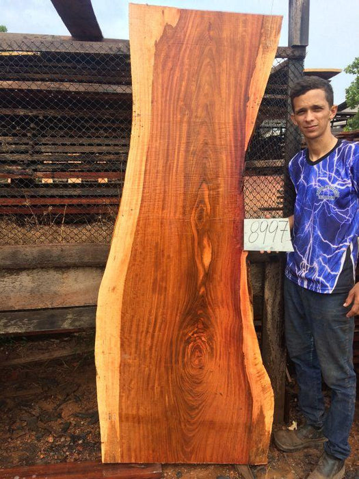 Jatoba / Brazilian Cherry #8997– 1-3/4″ x 25″ to 30″ x 82″ FREE SHIPPING within the Contiguous US. - Big Wood Slabs