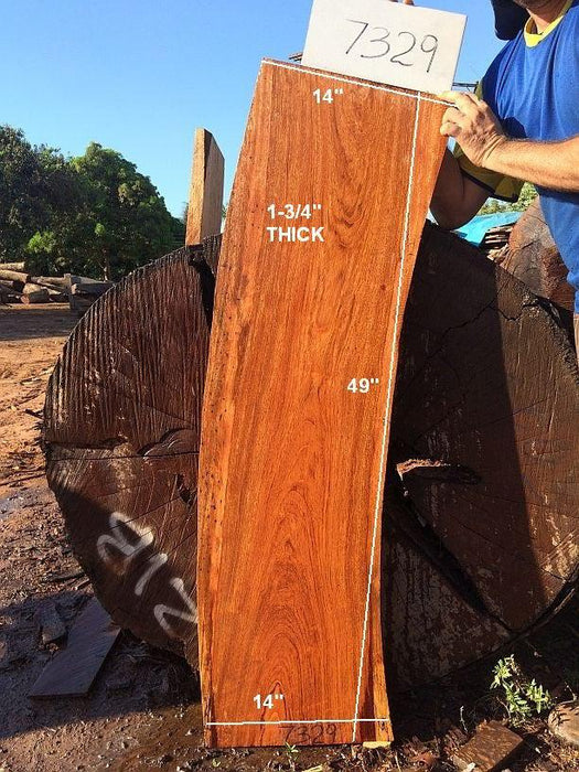 "Jatoba / Brazilian Cherry -  1-3/4"" X 14"" X 49"" - Big Wood Slabs"