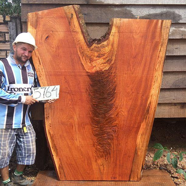 "Jatoba / Brazilian Cherry - 2-1/2"" x 34"" to 58"" x 73"" - Big Wood Slabs"