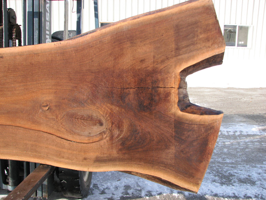"Walnut, American #7286(OC) 3-1/4"" x 30-1/4"" x 53"" x 117""- FREE SHIPPING within the Contiguous US. - Big Wood Slabs"