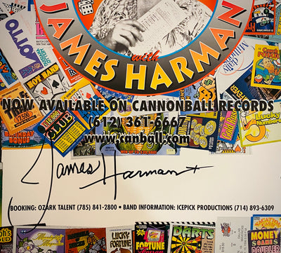 "James Harman ""Takin' Chances"" SIGNED poster, 18x24"