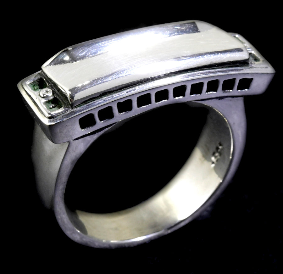 Big Harmonica Ring (sterling silver)