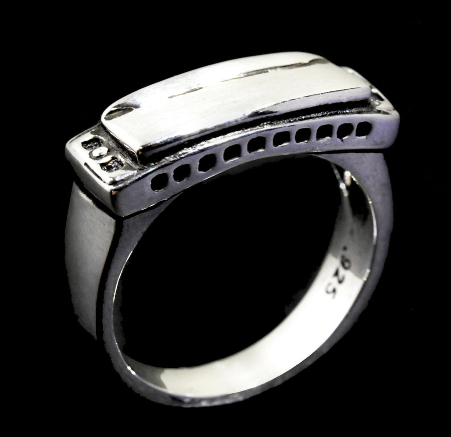 Small Harmonica Ring (sterling silver)