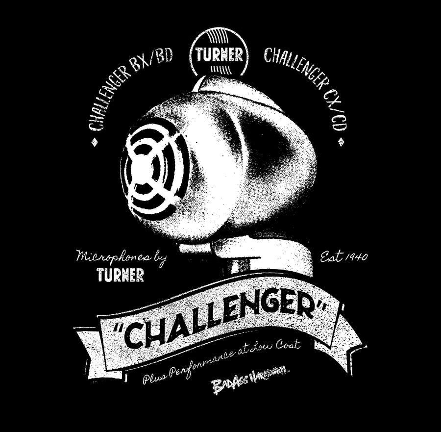 Women's Turner Challenger Retro Microphone T-shirt