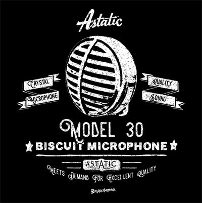 Women's Astatic Biscuit Retro Microphone T-shirt