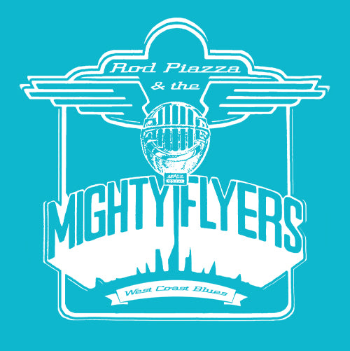 Women's Rod Piazza & Mighty Flyers T-shirt (Blue)