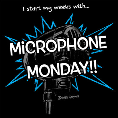 Microphone Monday T-shirt (blue)