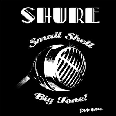 Women's Shure Small Shell Microphone T-shirt