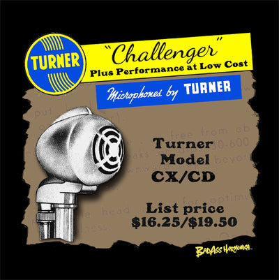 Turner Challenger CX/CD Microphone T-shirt