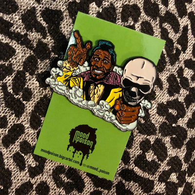 """Screamin"" Jay Hawkins enamel pin"