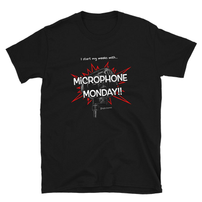 Microphone Monday T-shirt (red)