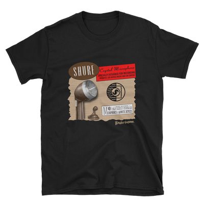 Shure Brown Bullet Microphone T-shirt