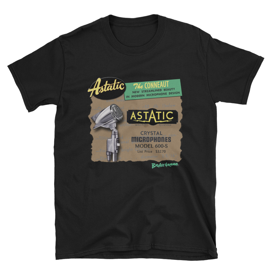 Astatic 600 Microphone T-shirt #1