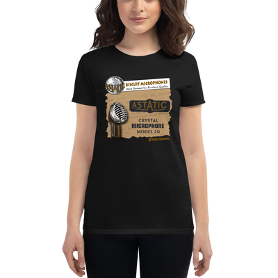 Women's Astatic Biscuit Microphone T-shirt