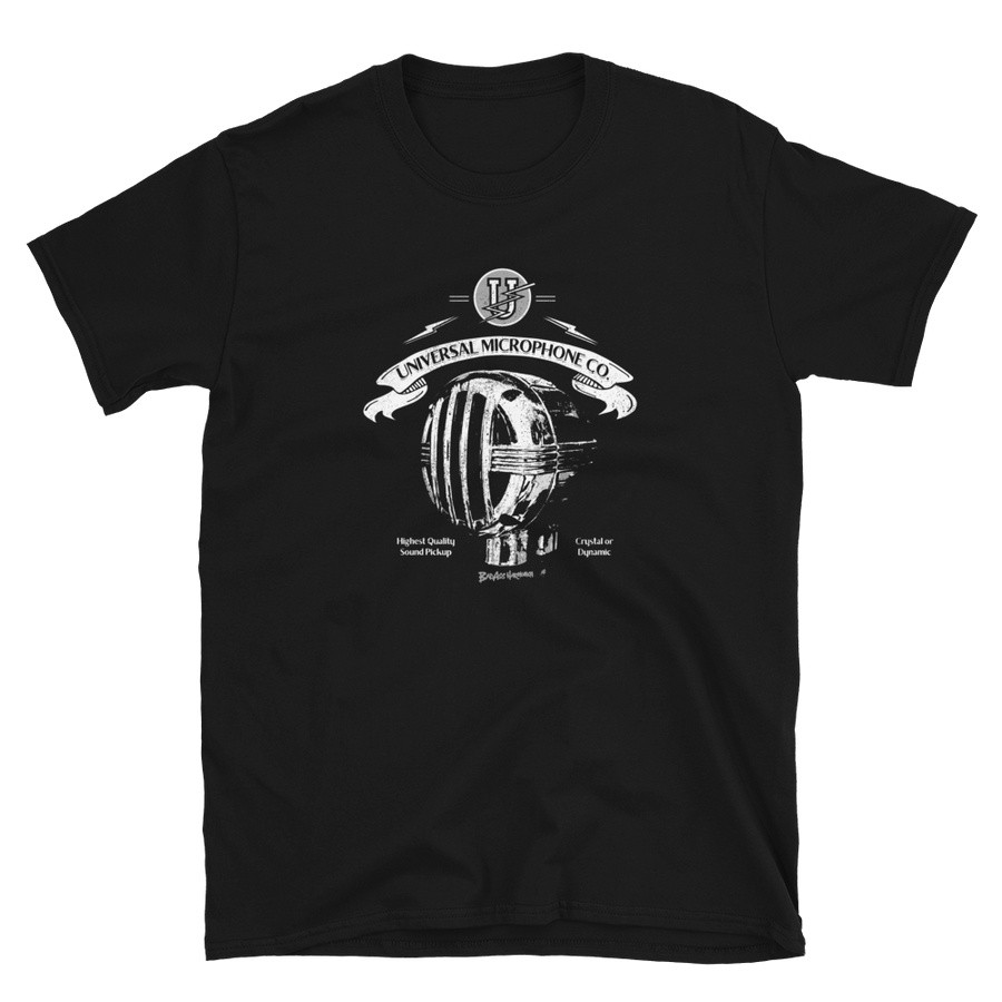 Universal Bullet Microphone retro T-shirt
