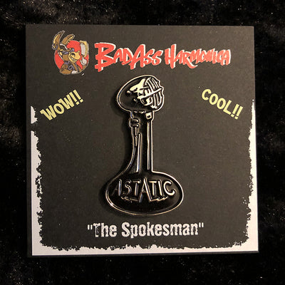 """Spokesman"" Astatic Microphone enamel pin"