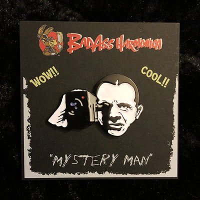 """Mystery Man"" enamel pin, David Lynch"