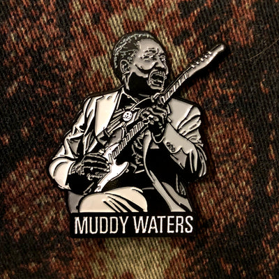 """Muddy Waters"" enamel pin"