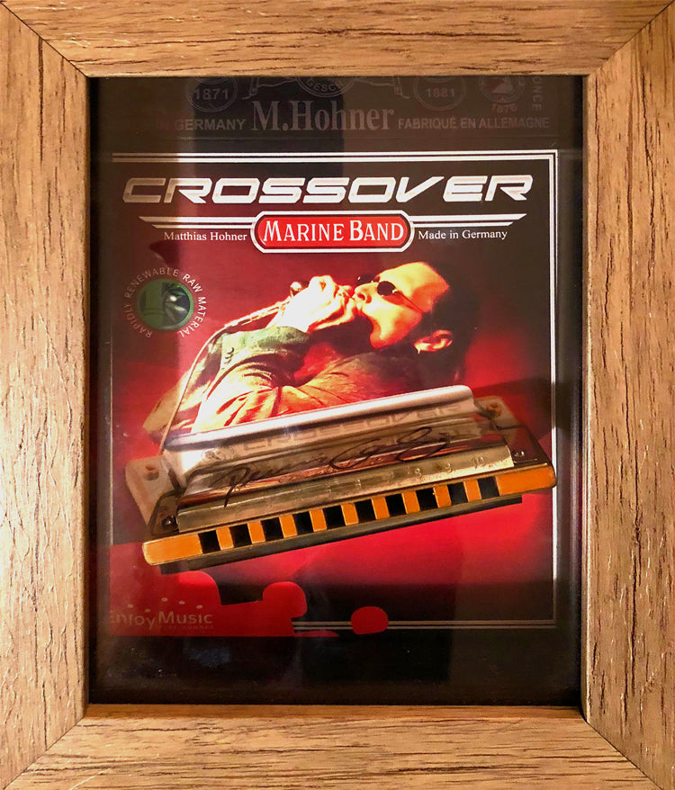 Autographed Personal Harmonica for display