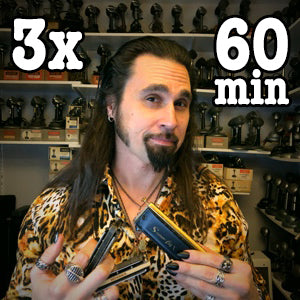 (3) 60 minute Online Harmonica Lessons