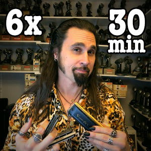 (6) 30 minute Online Harmonica Lessons