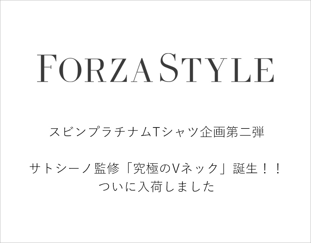 FORZA STYLE掲載 究極のVネック登場