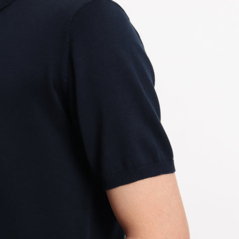 【SUVIN COTTON】Knit Polo-shirts