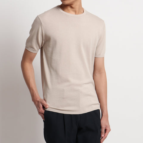 【SUVIN COTTON】Knit T-shirts