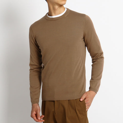 【SUVIN COTTON】Crew Neck Knit