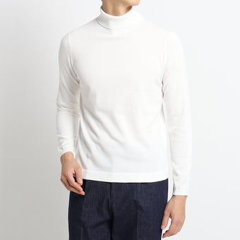 【新色】【SUVIN COTTON】Turtle Neck Knit