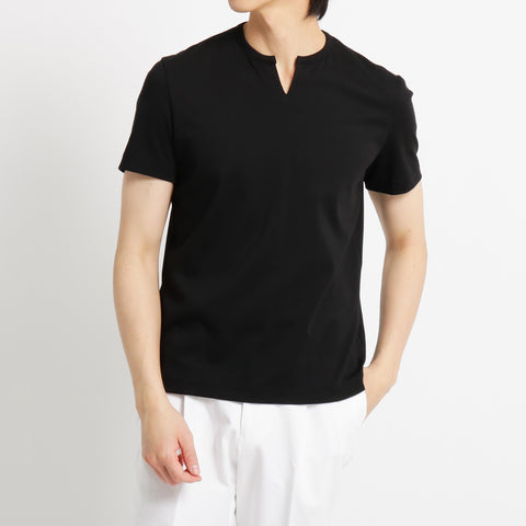 【SUVIN PLATINUM】Key neck T-shirts